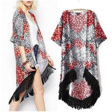 Factory2014 Spring new European nation fashion hem dovetail shawl sun shirt and long sections cardigan blazer coat 7