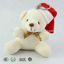 custom plush teddy bear christmas ornament
