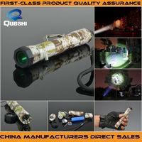 Queshi CREE T6 Mode 250 Lumen Green Light Hunting LED Flashlight