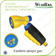 (84387) Hose end sprayer, revolve pistol cleaning nozzle sprayer, cleaning yellow color sprayer