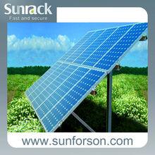 2MW Sunrack pile solar plant mounting system equipment