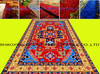 indian hand knit bright design carpets and rugs printed