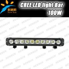 17 Inch 100W LED Light Bar for Off Road Indicators Work Driving Boat Car J eep Truck 4x4 SUV Spot Flood Combo 12V led light bar