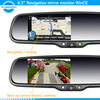 4.3 inch GPS navigation rearview mirror with built-in Bluetooth touch screen