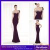 Elegant Brand Name Full Length One-shoulder Beaded Strap Purple Mermaid Long Evening Dress 2014 (ZX1367)