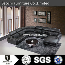 Baochi hand carved bedroom furniture sets,2014 new product hot sale china factory ,imported genuine leather sofa A173#