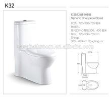 Own development design One piece toilet vitreous china siphonic jet toilet bowl