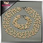 Fashion costume accessories jewelry white drop pearl jewelry sets