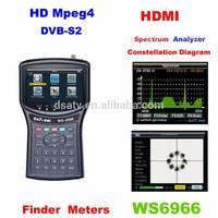 1pcs wholesale HD digital satellite finder meter mpeg4 DVB-S2 satellite meter Satlink WS 6966