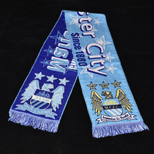 fashion style acrylic woven football team scarf