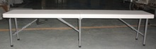 6ft plastic folding camping bench