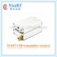 NiceRF 500mW USB port wireless module transceiver SV653 433/470/868/915MHz Wireless Transceiver Wireless Transmitter Receiver