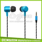 Colorful high quality super bass metal earphone mobile phone accessories wholesale