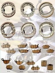 Motorcycle brake shoe,motorcycle brake pad,parts for FB50,V100,A100,GS125,PGT,MBK,SY125,KLRR250,TVS