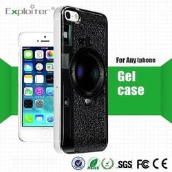 New design 3d silicone transparent silicone cellular phone case