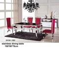 Novo design 34164-1063 açoinoxidável mesas e cadeiras( de aço inoxidável conjunto de jantar)