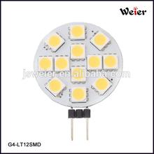White Marine Light Bulb Lamp 12 V, G4 LED