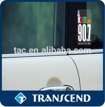 non-toxic car window decor sticker without glue /custom design static cling sticker for car decor