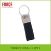 amazing strap leather key chain with customized logo on square metal charm