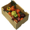 natural brwon waxed corrugated fruit box for apple packaging