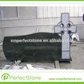 Granito y tumbas de granito negro pulido de la cabeza caliente china/europ monumentos de estilo