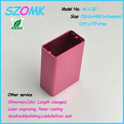 """din rail enclosure aluminum tool box for trucks 23(H)x44(W)xfree(mm) 0.91""""x1.73""""xfree"""
