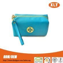 New design! Fashion gold metal zipper Cosmetic Bags, Girl metal zipper Makeup Bag