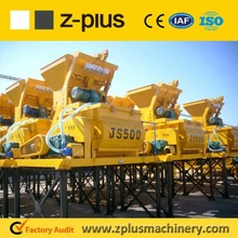 Small JS500 Universal Concrete Mixer Price, short mixing time and reliable operation