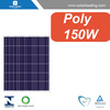 Solar system off grid used 150W Poly solar panels, with TUV, CE certificates