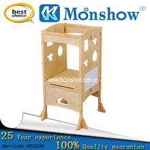 wood folding display shelf for child salon furniture