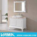 V-14100 piso de mármore top de vinil envoltório armário de banheiro