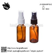 2015 essential oil used JY-030A 30ml amber mould spray glass bottle