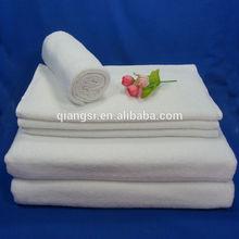 White cotton terry bath towel