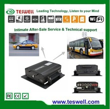 TESWELL tech 4 CH H.264 Compression Vehicle Mobile DVR with G-SENSOR and GPS Function for school bus