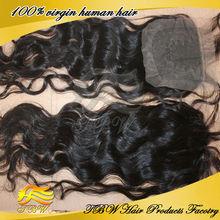 virgin brazilian human hair loose wave lace top closure hair piece