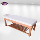 2014 modern design solid wooden massage table with cabinet for sale