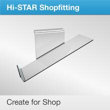 HA105 shoe accessories decoration for shoe shop acrylic display slat wall shelf