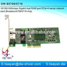 Gigabit mini pci-e network adapter with Broadcom 5709 chipset