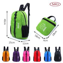 oem/odm waterproof foldable sports bag backpack for camping /hiking