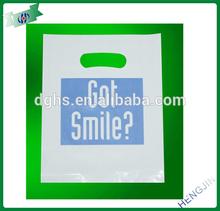 Environmental friendly wholesale for 100% new material die cut bag/plastic bag