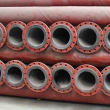 Plastic lined oil conveying steel pipe