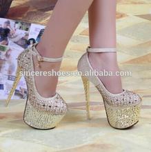Lace PU Upper Rivets Platform Special Sexy Women High Heels