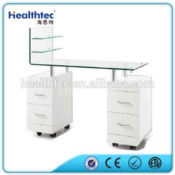 glass table nail salon furniture manicure table