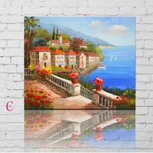 Colorful Natural Village Garden Scenery Painting