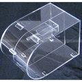 Acrílico transparente se enfrentan ronda bin dulces, venta al por mayor de dulces de acrílico dispensador de caja