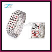 men and women red led faceless metal digital waterproof watch best