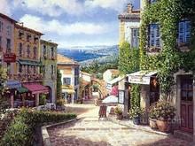 impressionist venice oil painting on canvas