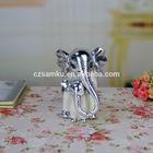 AH039 2014 wholesales ceramic elephant electroplated sculpture
