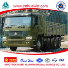 Military cargo truck HOWO 6X6 All Drive Truck for Algeria market Rent truck