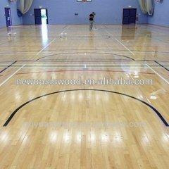 oak interlocking futsal court flooring
